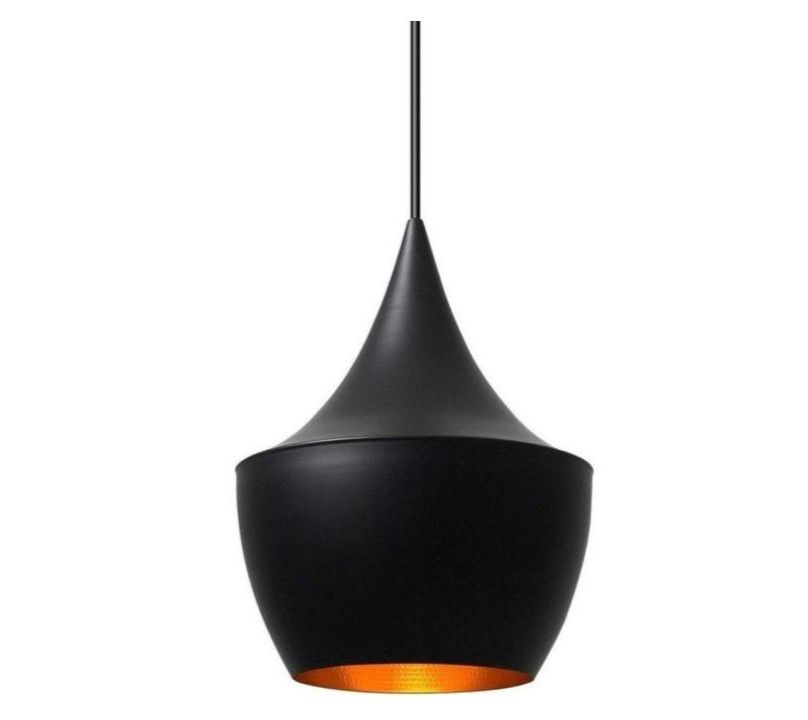 G*FURN Jayda Fat Pendant Lamp, Black