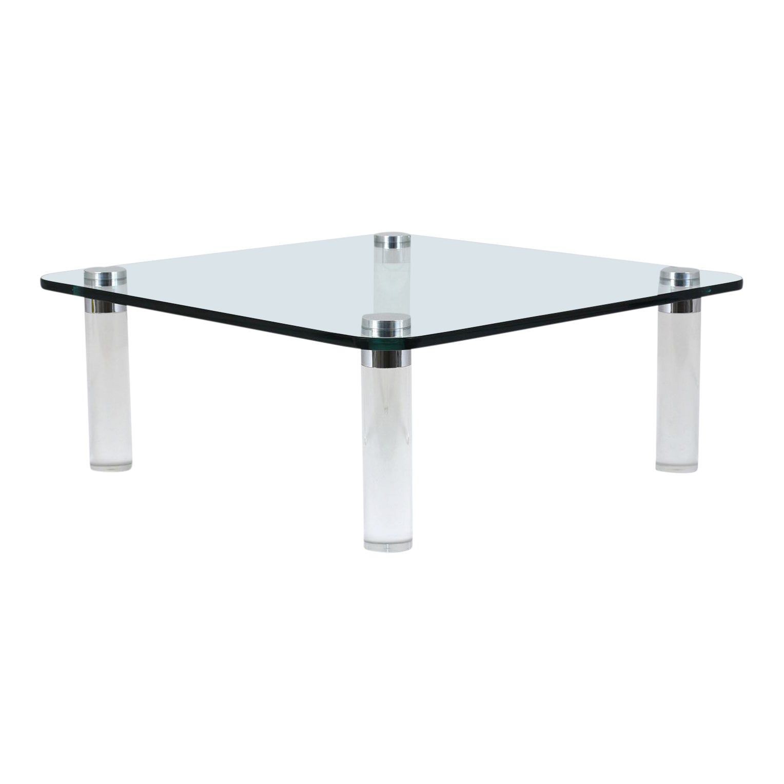 Midcentury modern lucite coffee table