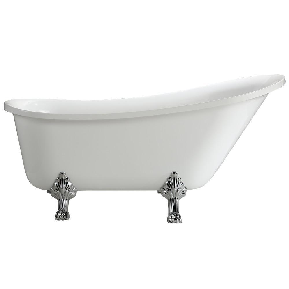 white clawfoot tub