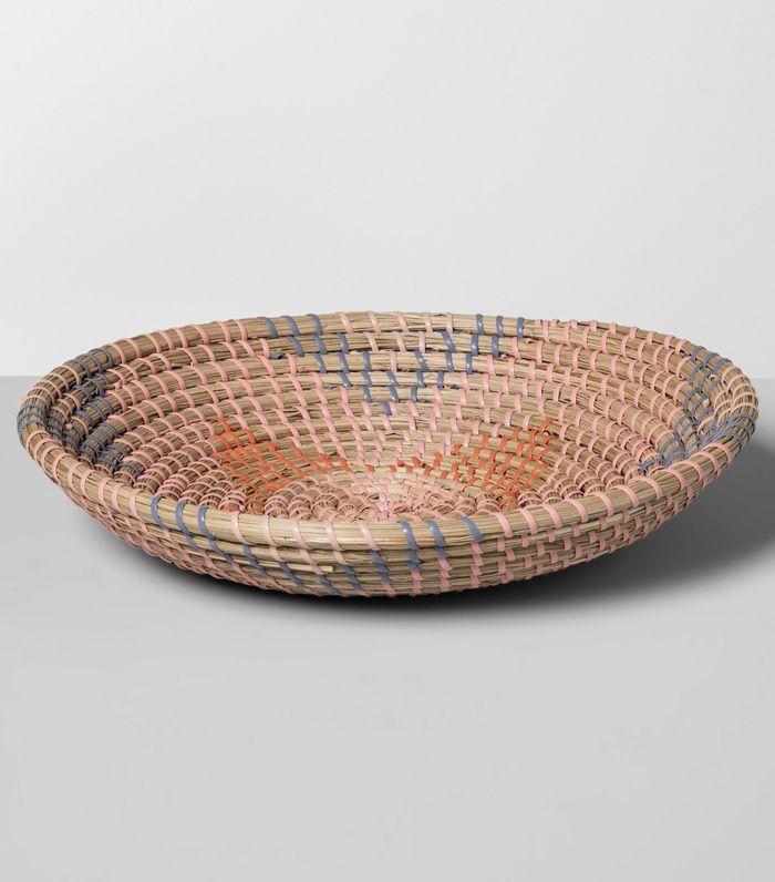 Target Pink Short Woven Basket