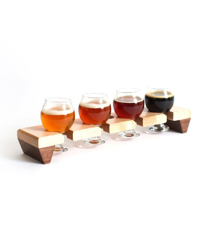 AbbeyCatBrewing Beer Flight Sampler With glasses