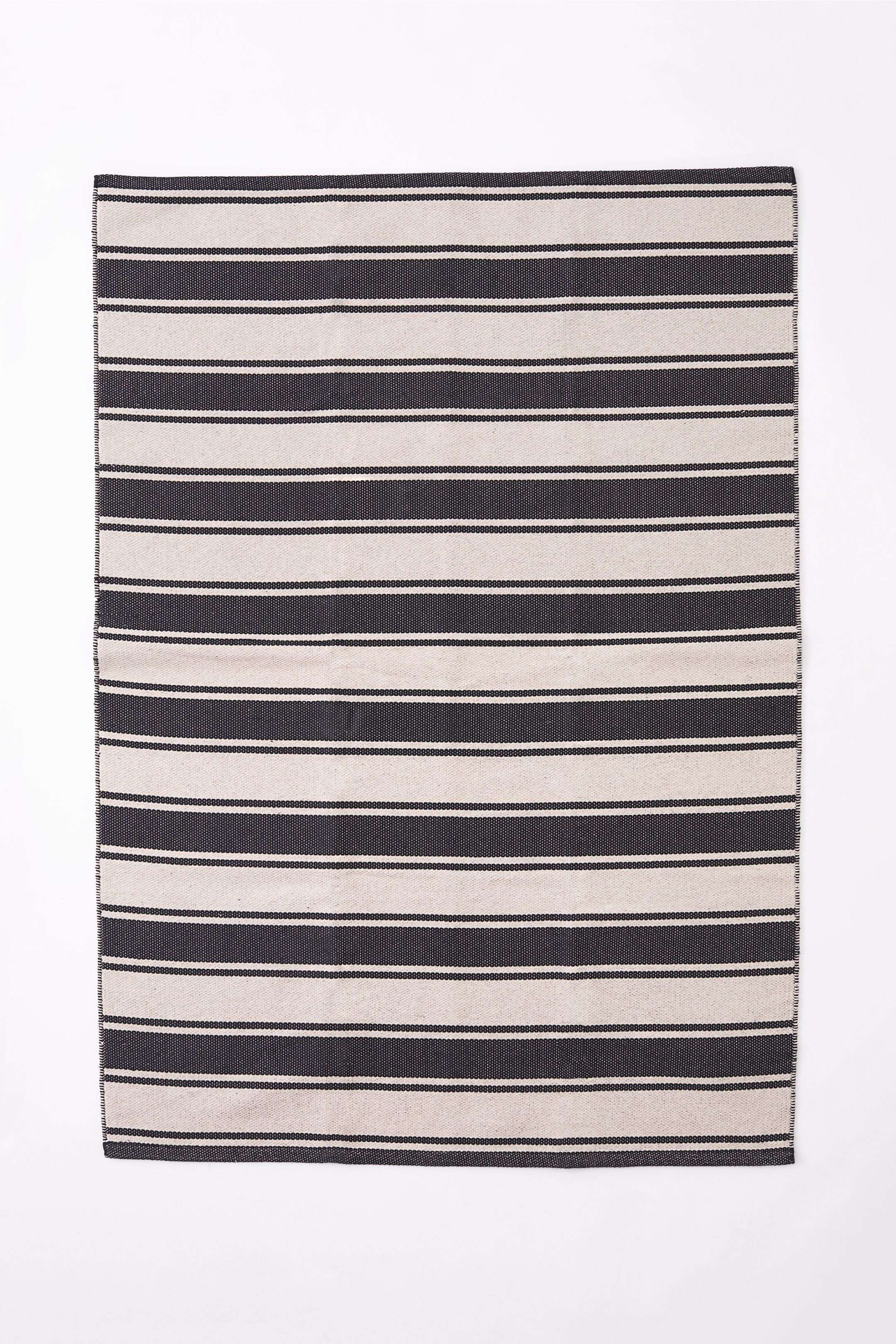 H&M Home Striped Cotton Rug