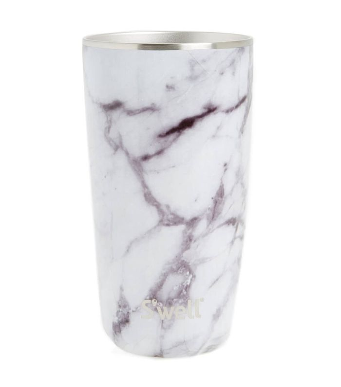 S'Well White Marble 18-Ounce Insulated Tumbler