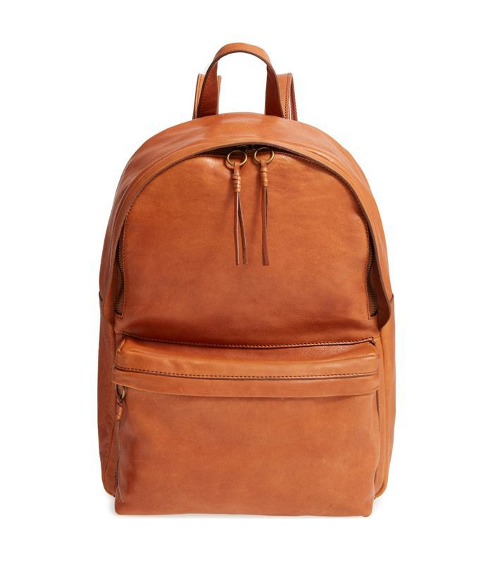 Lorimer Leather Backpack - Brown