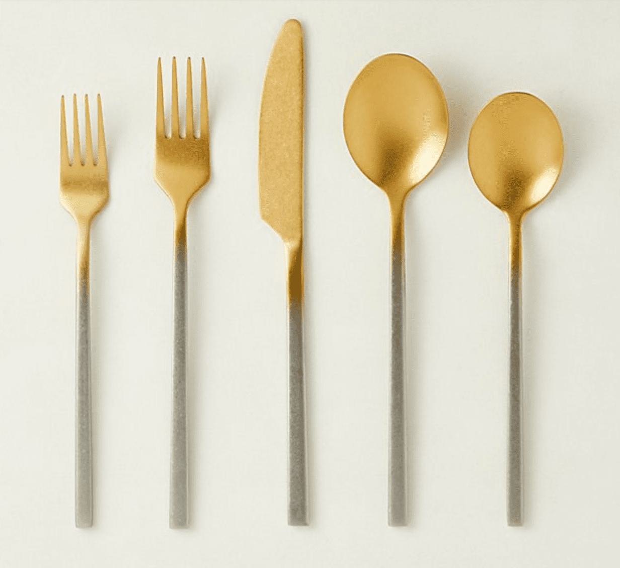 20-PIECE PIN TUMBLED TWO-TONE FLATWARE SET