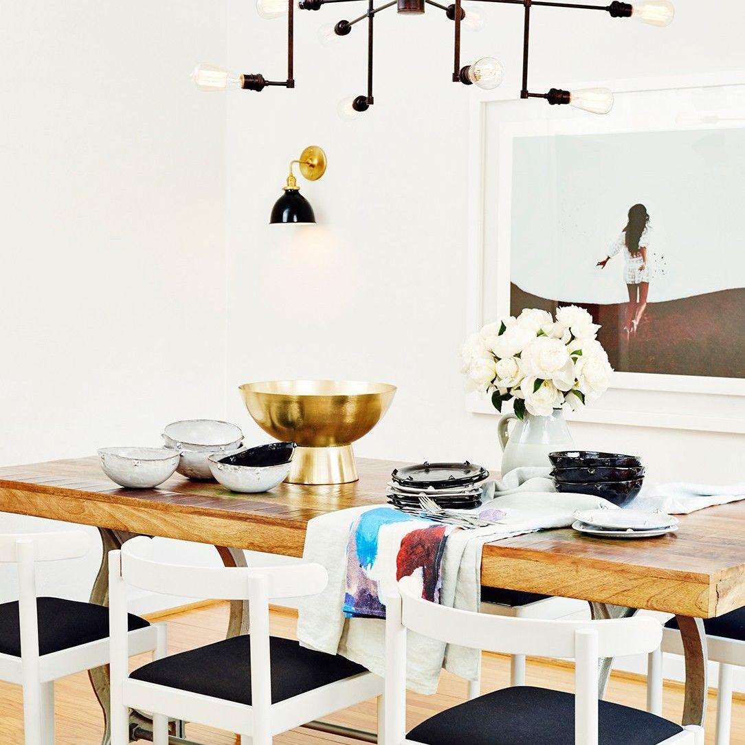 Nina Dobrev—modern dining room