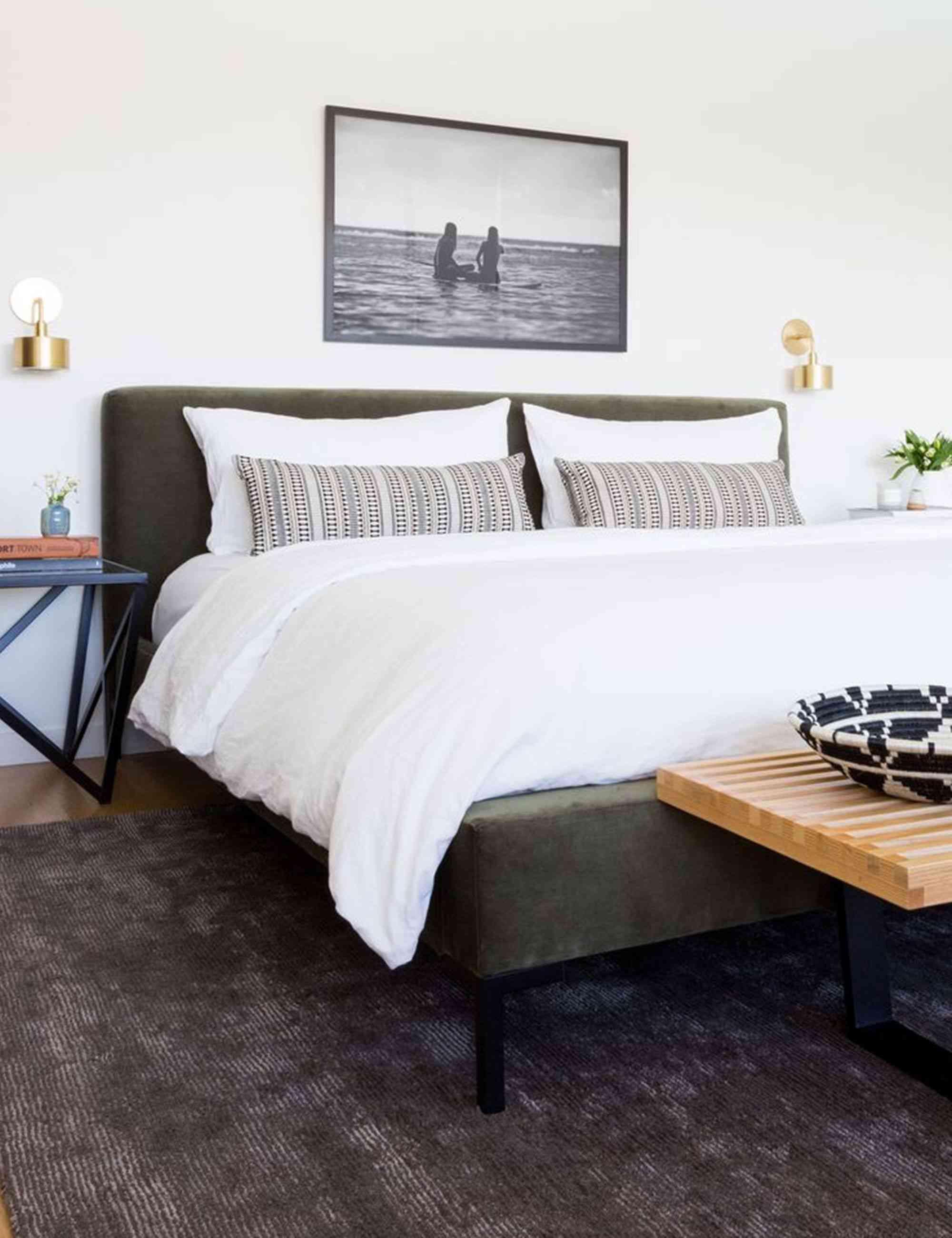 Deva Moss Velvet Bed