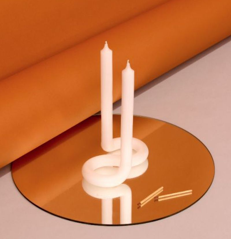 A sculptural candle, currently for sale at Trouva