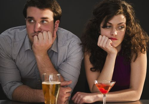 Couple on bad date