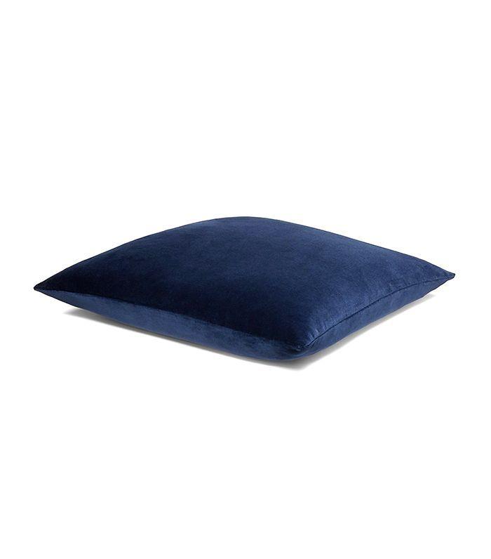 FALL 17 lucerne velvet pillow in cobalt