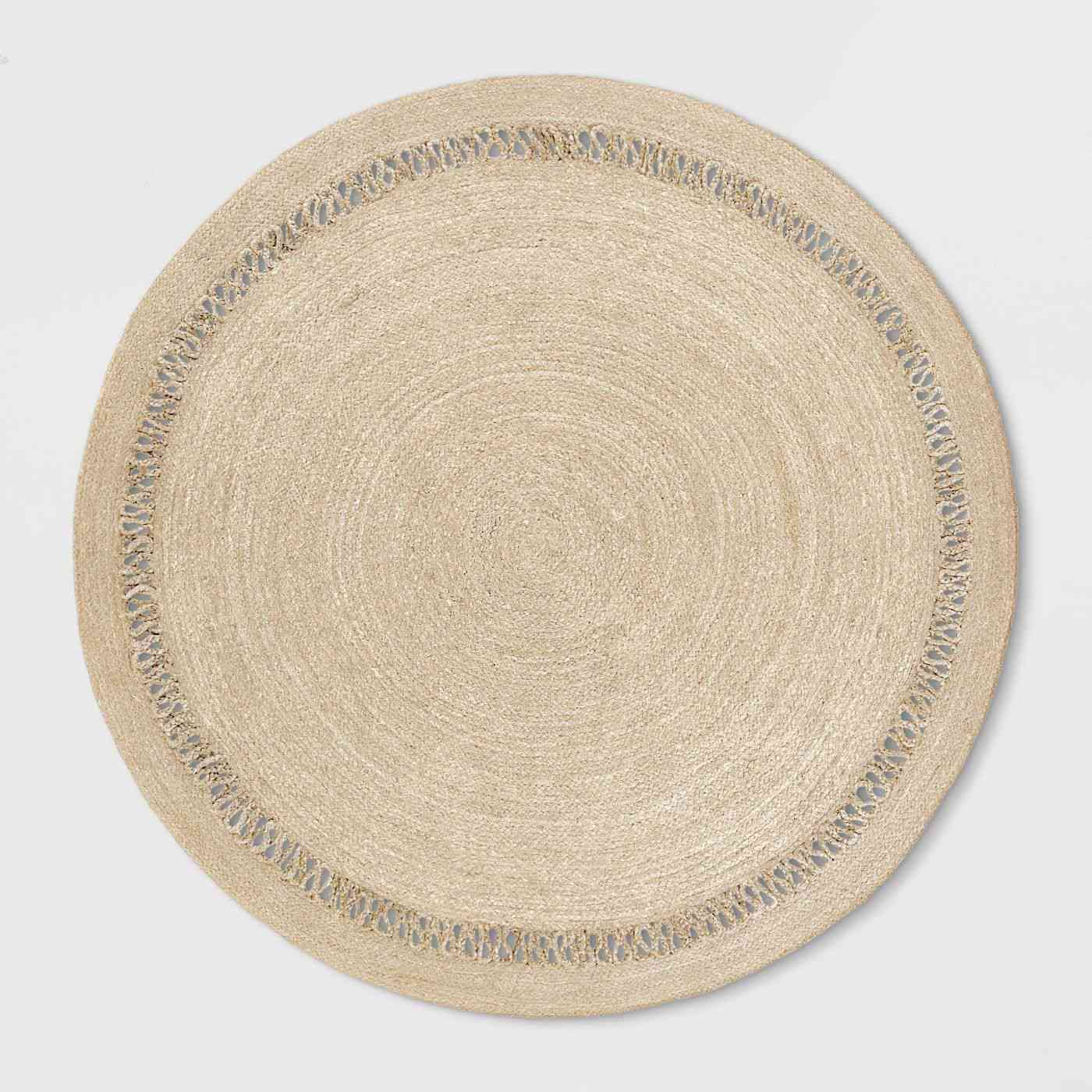 Solid Braided Round Area Rug