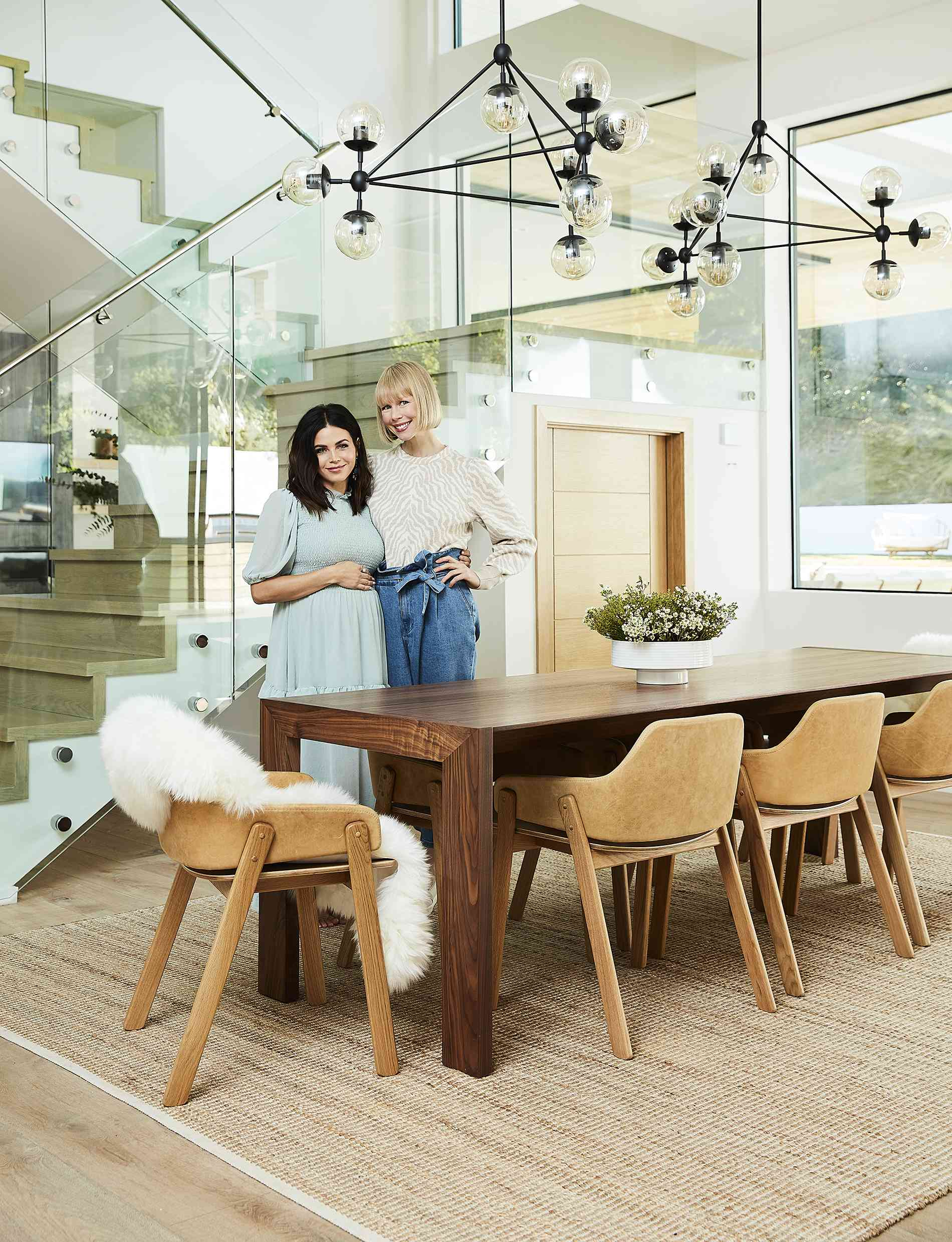 jenna dewan and erin fetherston in a modern dining room