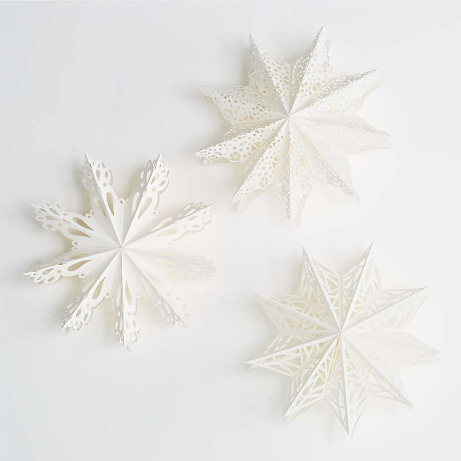 Snow Day Paper Snowflakes, Set of 3
