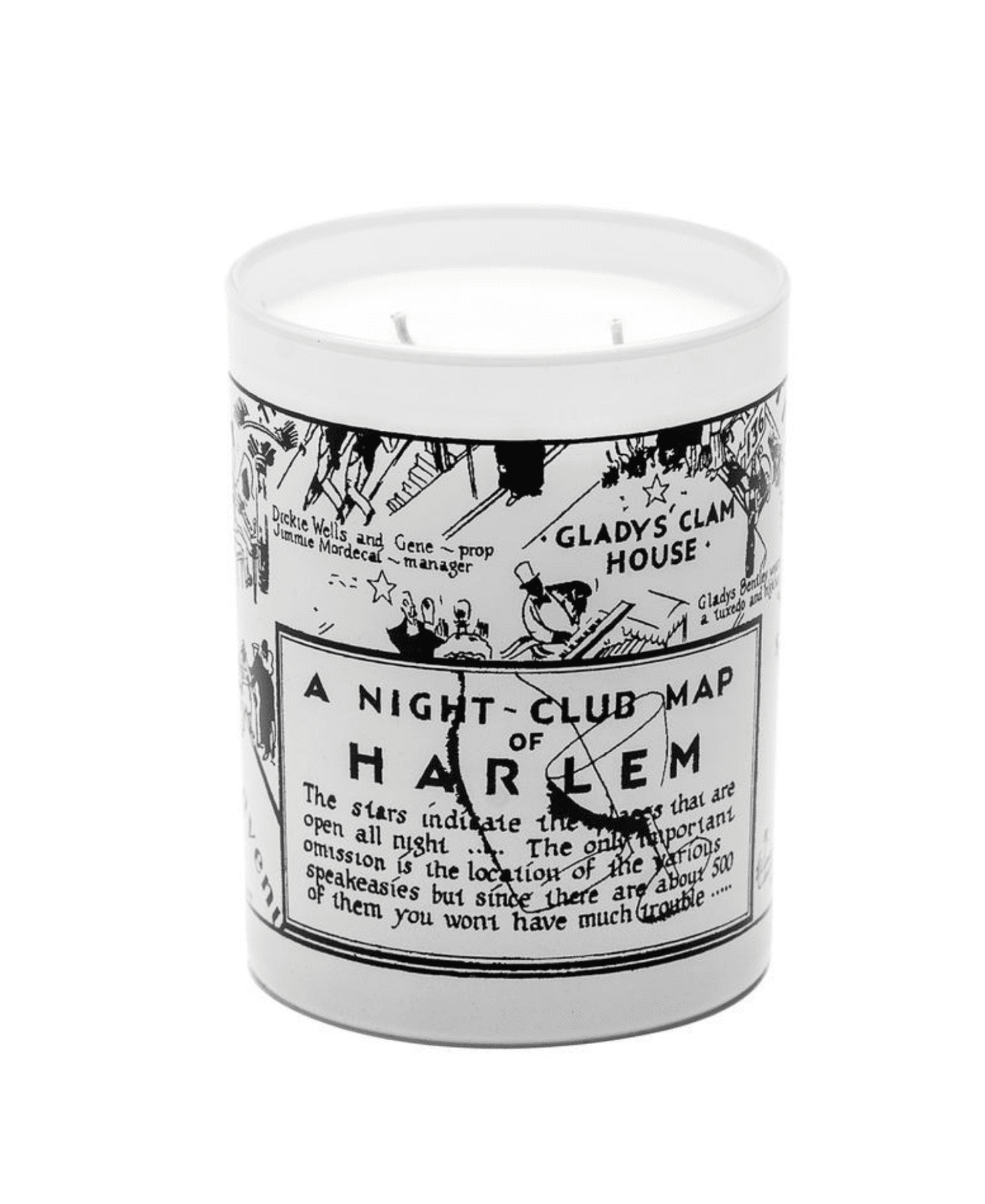 Vintage Night Club Map Candle