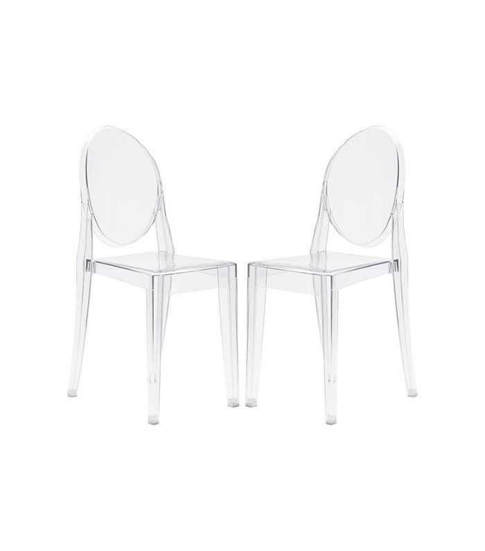 Edgemod Set of 2 Victoria Ghost Style Side Chair
