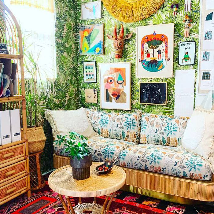 Bohemian décor—Justina Blakeney