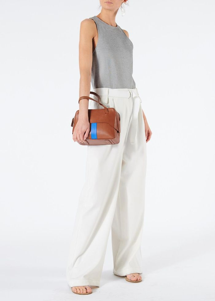 Mora Suiting Stella Wide Leg Paperbag Pants with Removable Belt