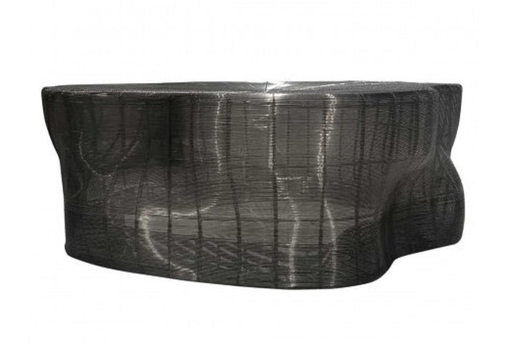 Vintage Contemporary Free Form Steel Coffee Table