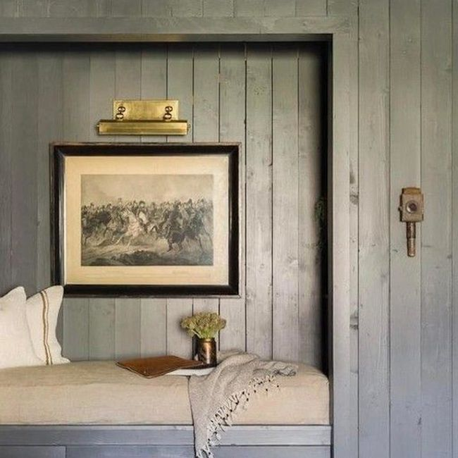 Reading nook painted gray