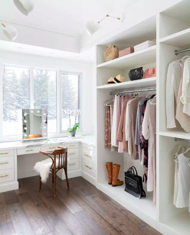 white closet design