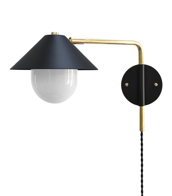 Photonic Studio Modern Brass Swing Arm Sconce