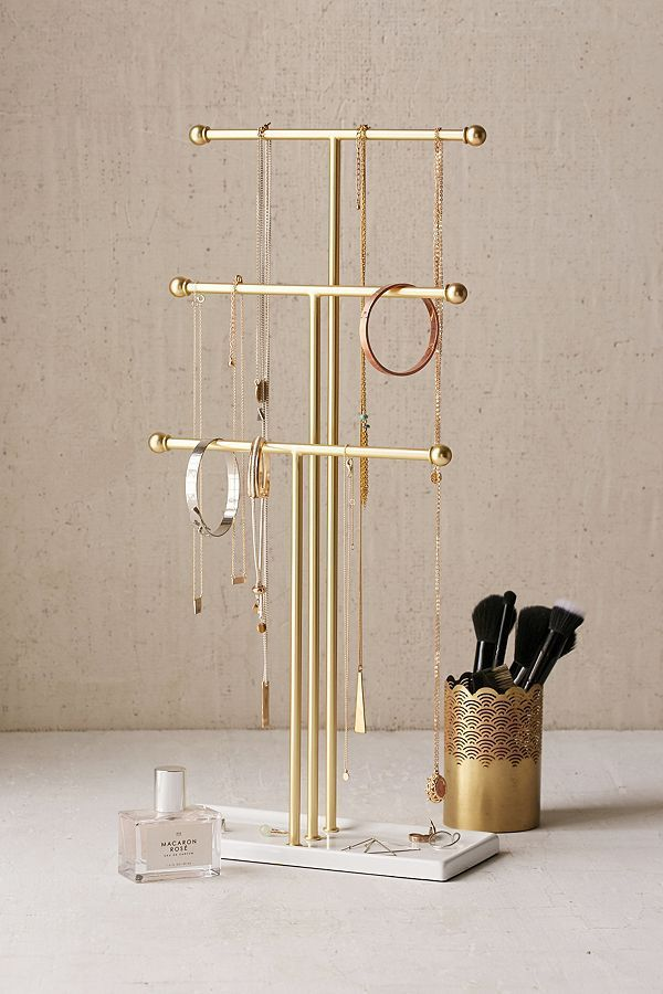 Trigem Tabletop Jewelry Stand - Gold One Size at Urban Outfitters