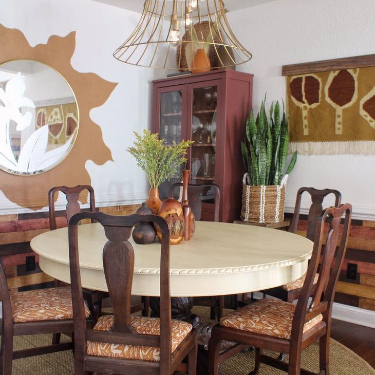 Vintage inspired dining room