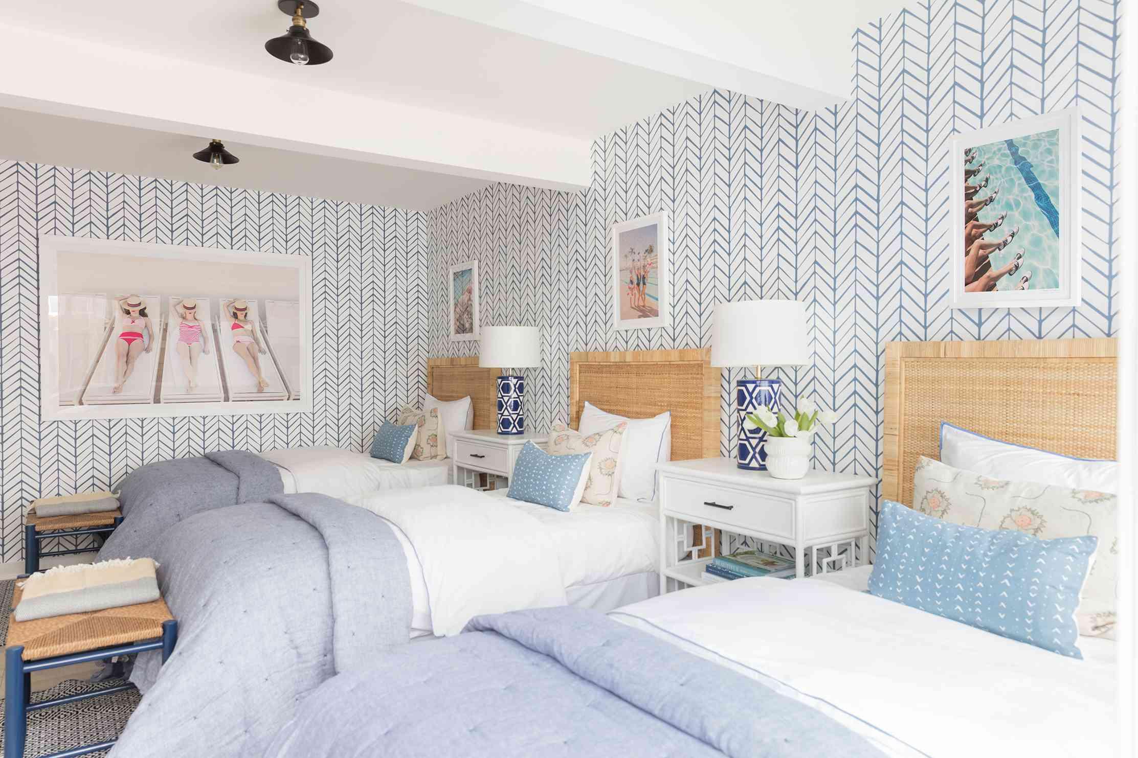 makeover of the week - kate lester guest bedroom