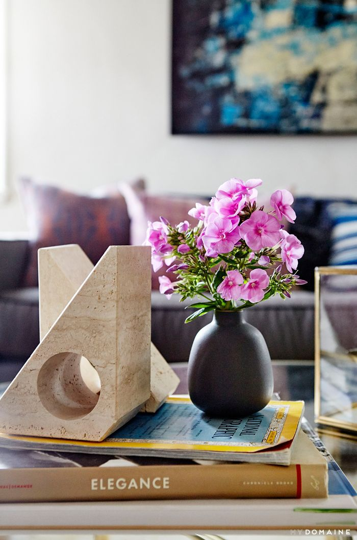 Vintage accessories on coffee table