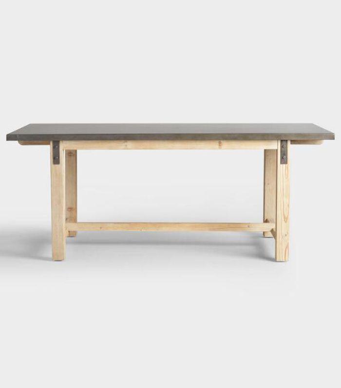 Metal Top Wyatt Dining Table by World Market