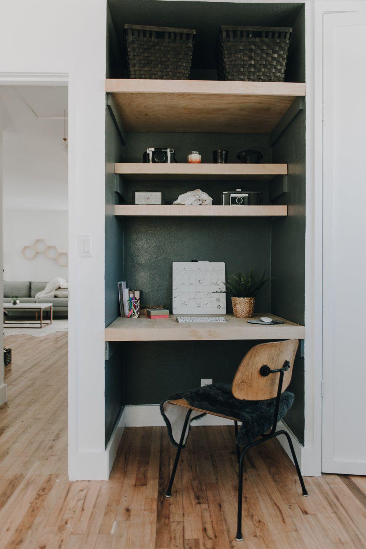Desk in a nook