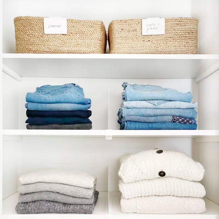 stacked closet