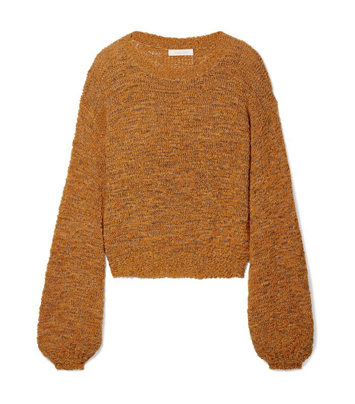Open-knit Wool-blend Sweater