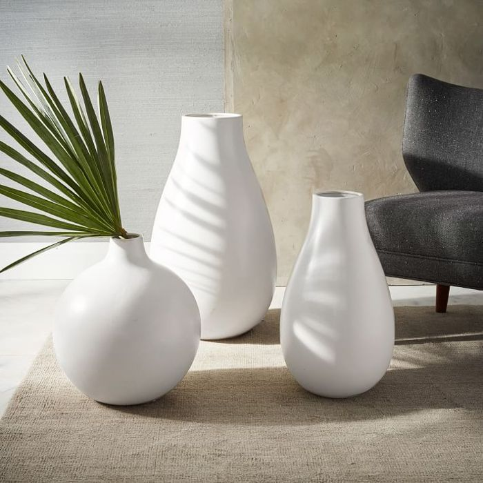 Pure White Ceramic Vase