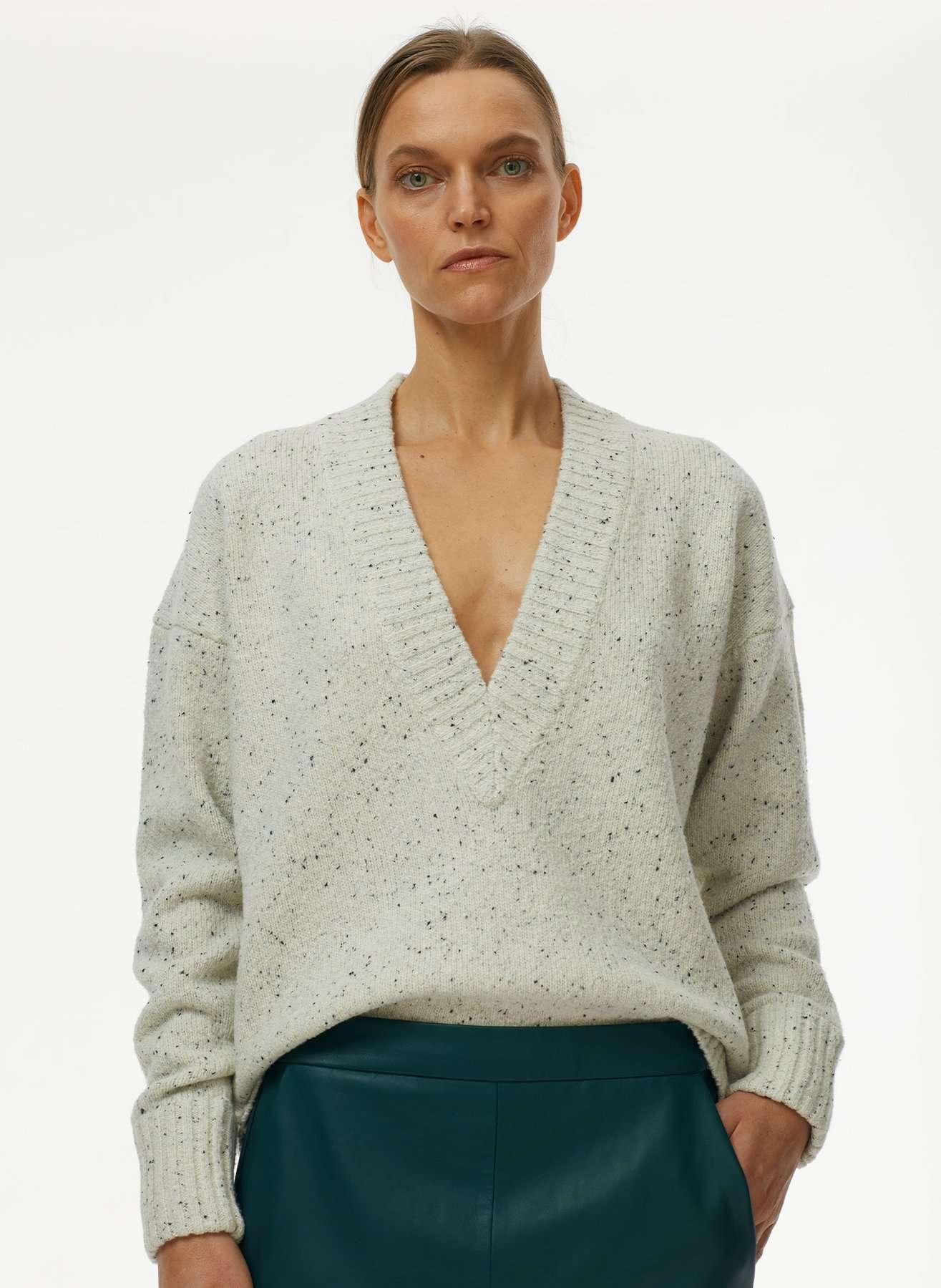 Sudadera con capucha Eco Tweedy Knit Deep V