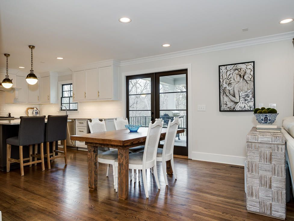 makeover of the week - Crystal Nagel kitchen home tour dining area