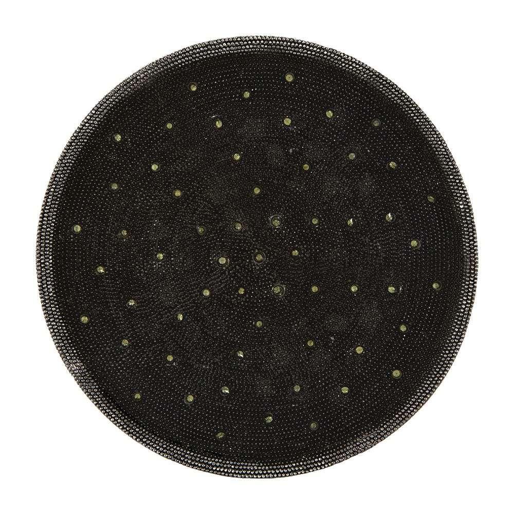 Black mesh coaster