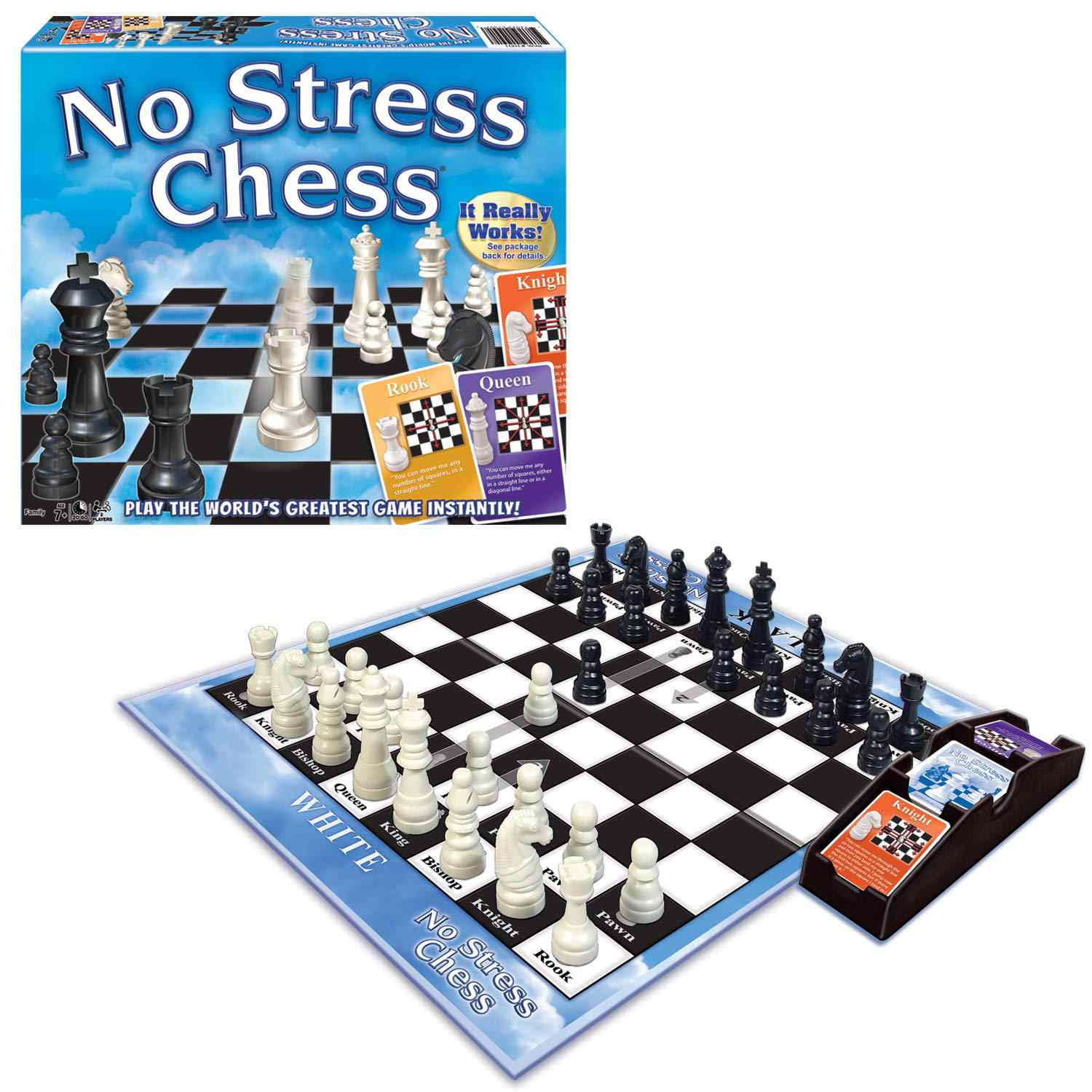 An easy family-style chess game called No Stress Chess.