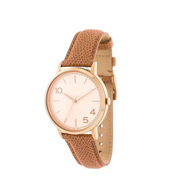 rose gold dial watch, Adult Unisex, brown