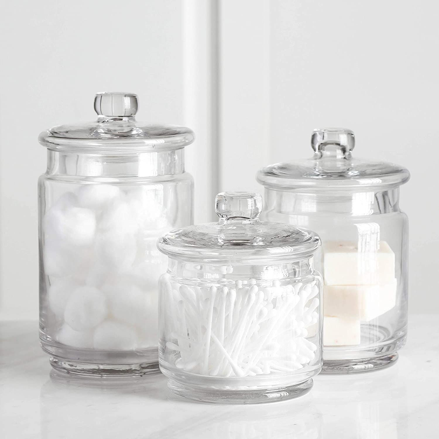 Clear Glass Apothecary Jars