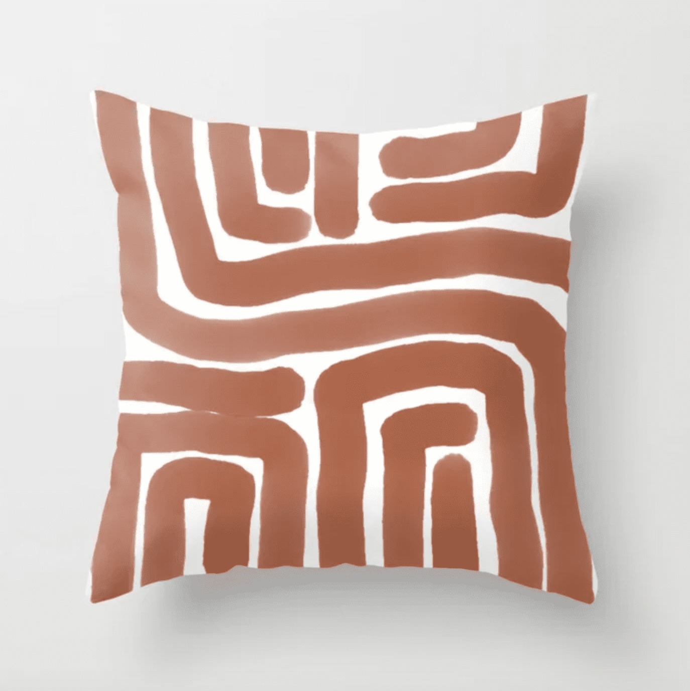 bronze lines abstract print pillow