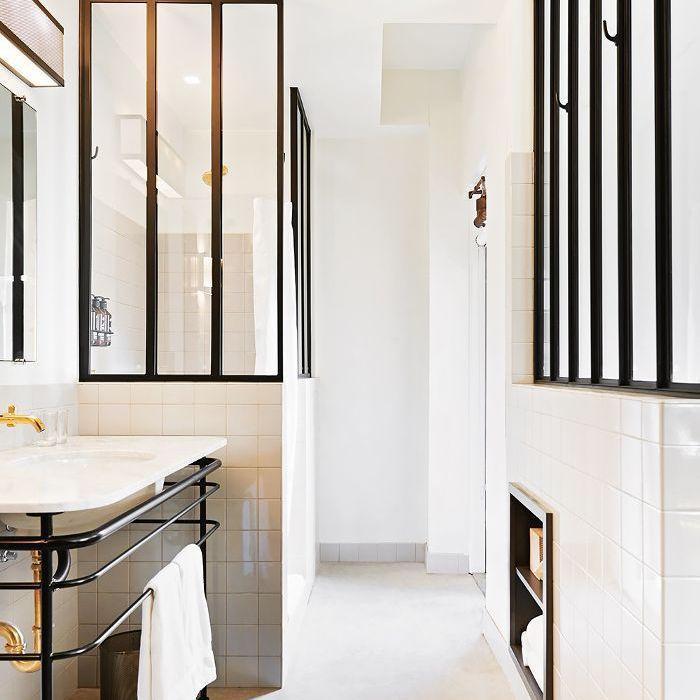 An all-white bathroom