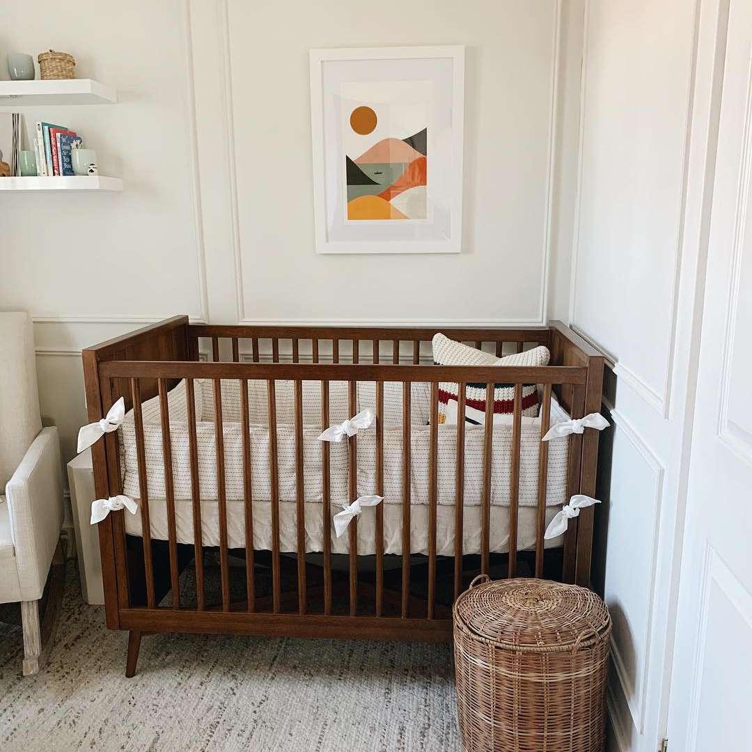 Simple baby nursery with artwork