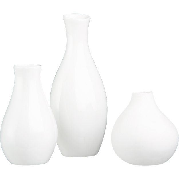 CB2 3 Piece Trio Vase Set