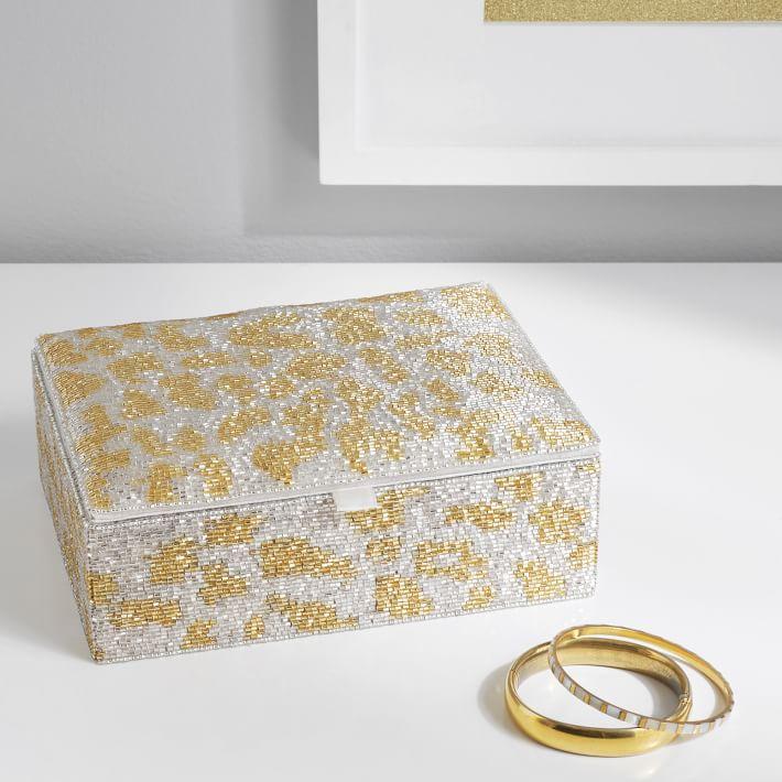 metallic jewelry box