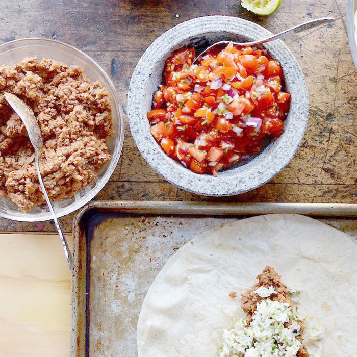 Burritos de res y frijoles