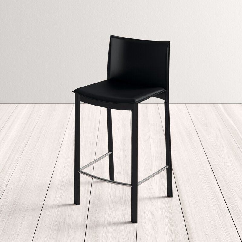 Lucier Black Counter and Bar Stool