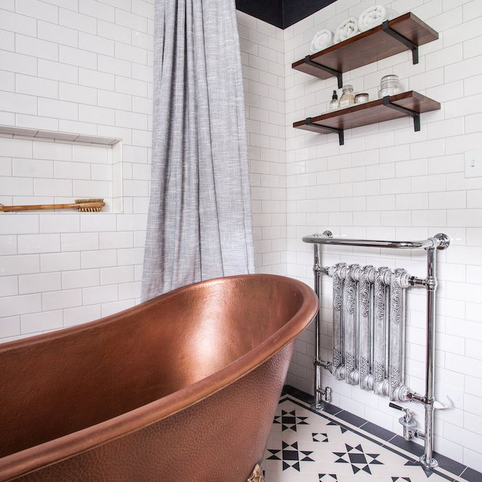 15 Gorgeous Bathroom Floating Shelves Ideas, Wood Shelves Bathroom