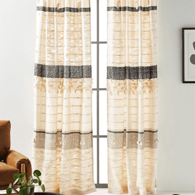 All Roads Tasseled Curtain