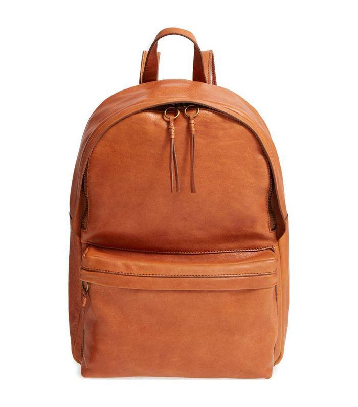 Lorimer Leather Backpack - Brown
